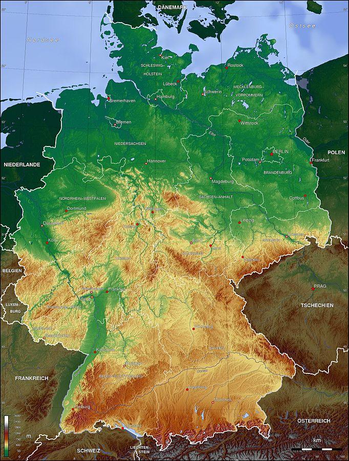 Kartor Over Tyskland Om Tyskland