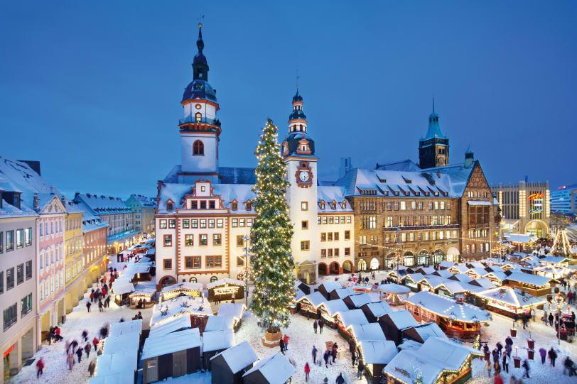 julmarknaden i Chemnitz