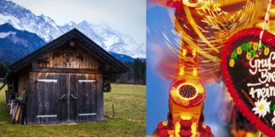 Alpstuga vid foten av Zugspitze